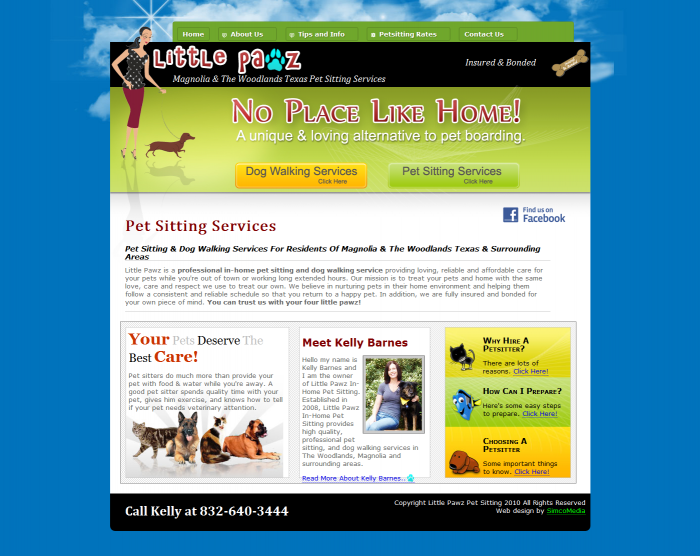 Little Pawz Pet Sitting - Web Design by Brian Sniff