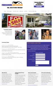 Foreclosure Lawyers web design by Brian Sniff