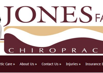 Jones Family Chiropractic Redesign