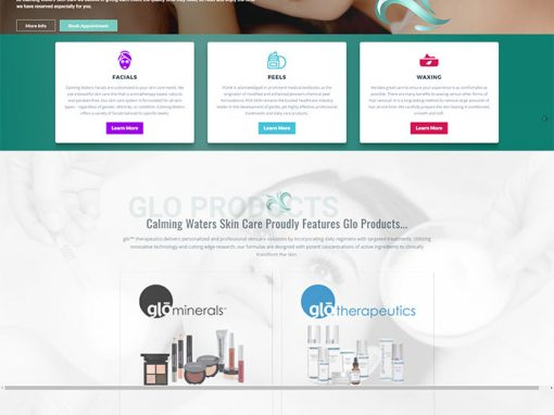 Calming Waters Skin Care Redesign